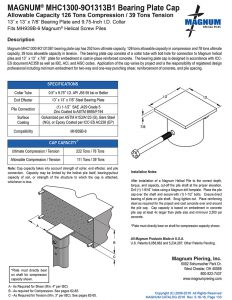 MHC1300-9O1313B1 Bearing Plate Cap Specifications Sheet
