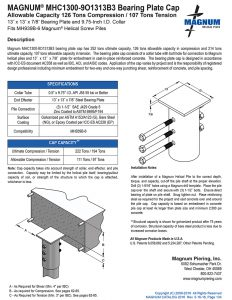 MHC1300-9O1313B3 Bearing Plate Cap Specifications Sheet