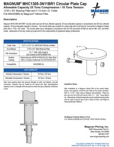 MHC1305-3N11BR1 Circular Plate Cap Specifications Sheet