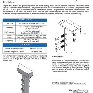MHC1350-5N6135B3 Gusseted Cap Specifications Sheet