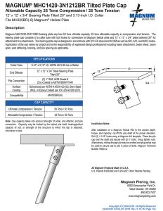 MHC1420-3N1212BR Tilted Plate Cap Specifications Sheet