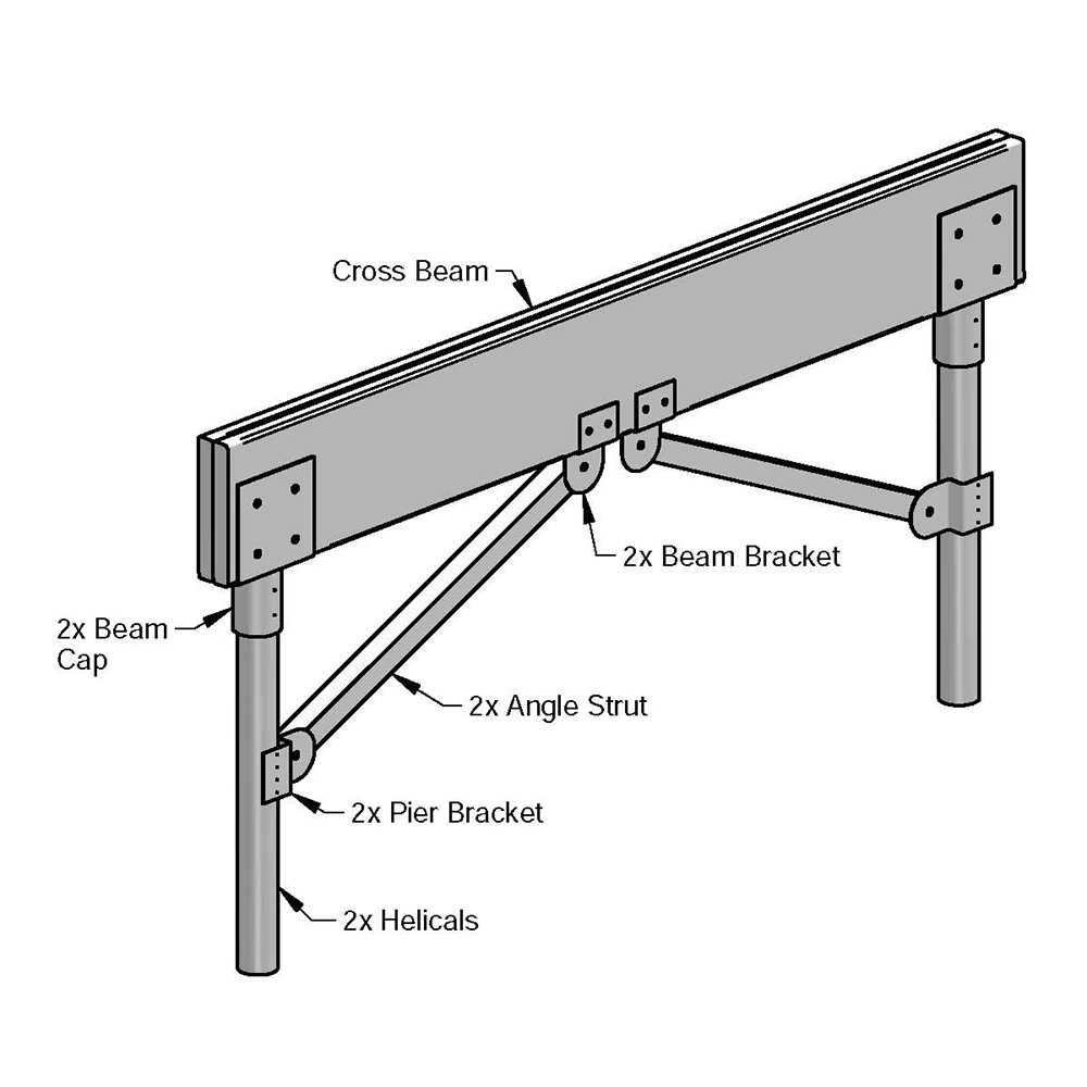Magnum Piering MHLS1000 Boardwalk K-Bracing System