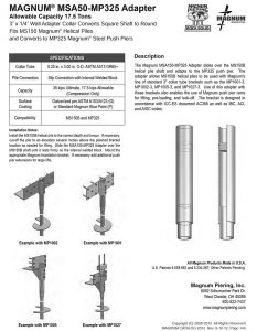 MAGNUM MSA50-MP325 Adapter Data Sheet