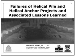 Failures and Lessons Learned Presentation