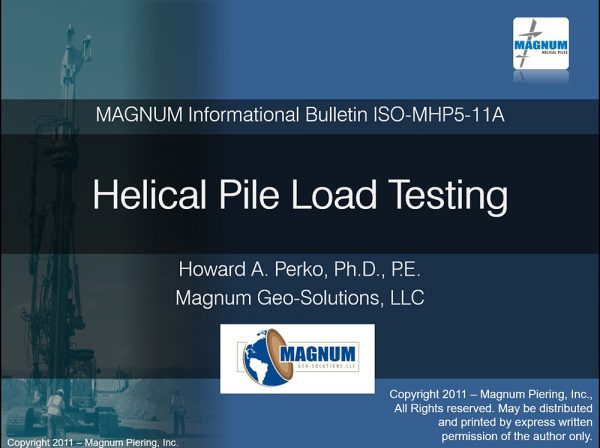 Helical Pile Load Testing