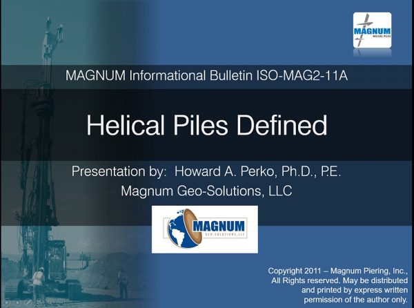 Helical Piles Defined