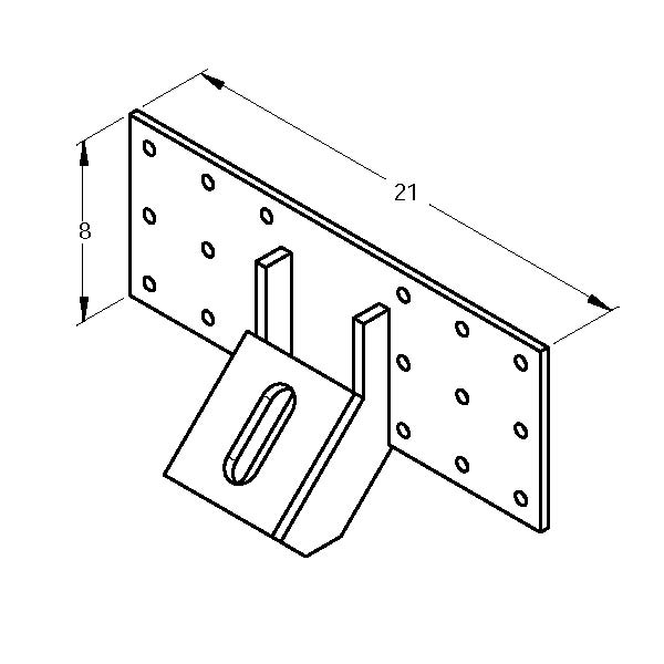 MAGNUM MP1017-3 Tie-Back Bracket