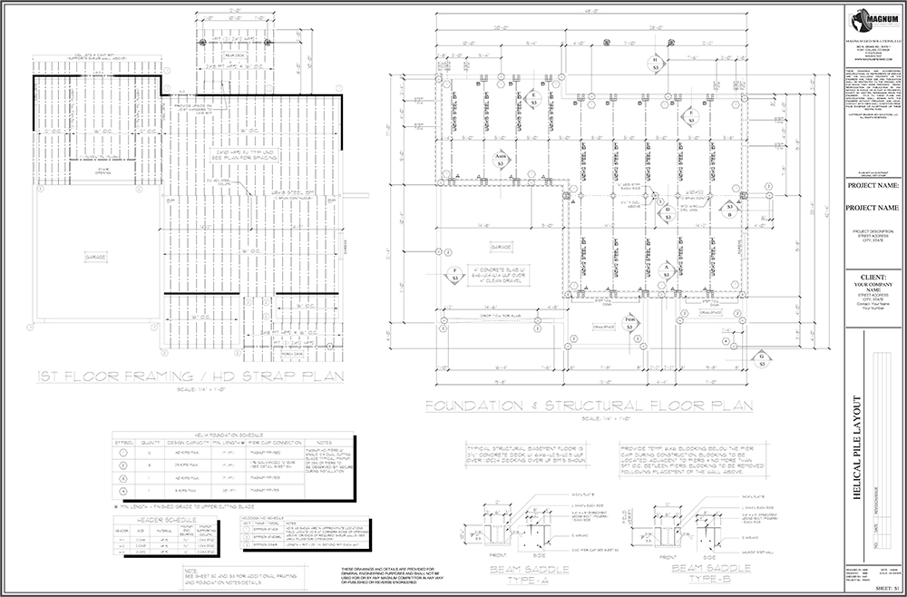 Free CAD Files - Download Today And Get To Work |Magnum Piering