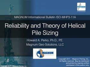 Reliability and Theory of Helical Pile Sizing