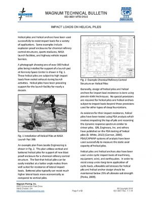 Impact Loads on Helical Piles
