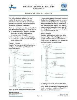 Grouted Helical Piles