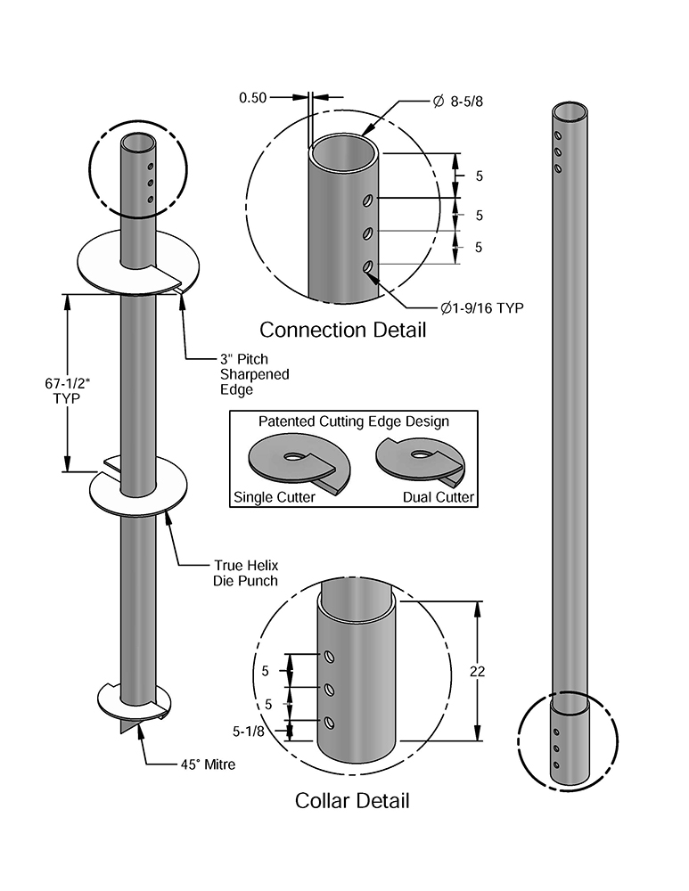 Helical pile design technical specs | jes foundation repair.