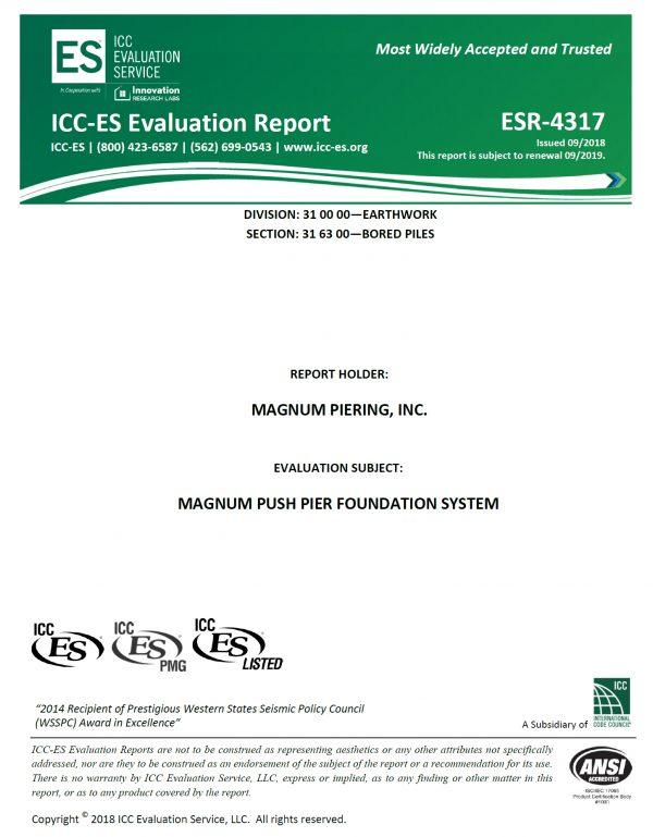 ICC-ES report ESR-4317